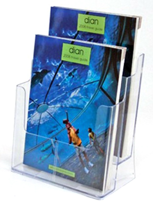 Acrylic Brochure Holder Two Tiers