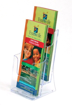 A5 Acrylic Brochure Holder Two Tiers
