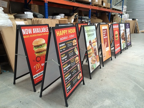 Corflute A Board - McDonald01
