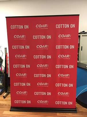 pull up banner -cotton on 1.5m wide
