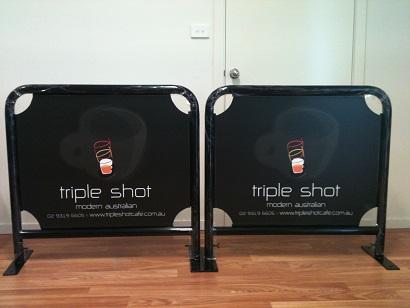 1m cafe barrier-triple shot