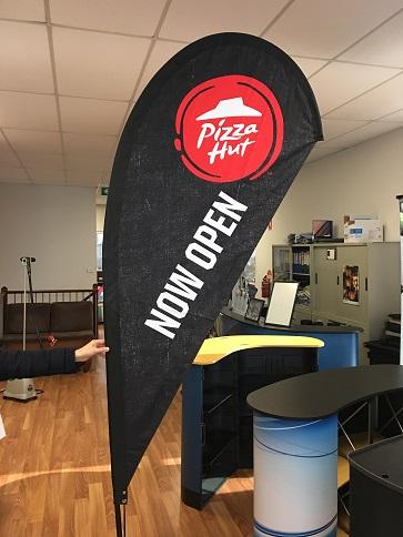 Teardrop Flag-Pizza Hut