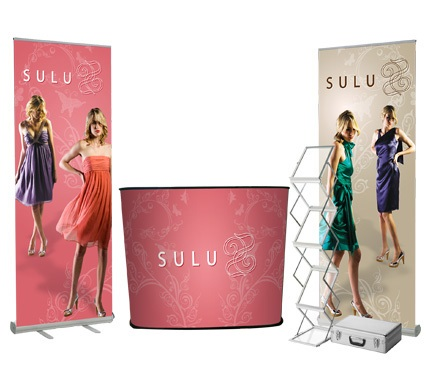 Portable Exhibition Walls : These exhibition displays are portable for use at trade shows